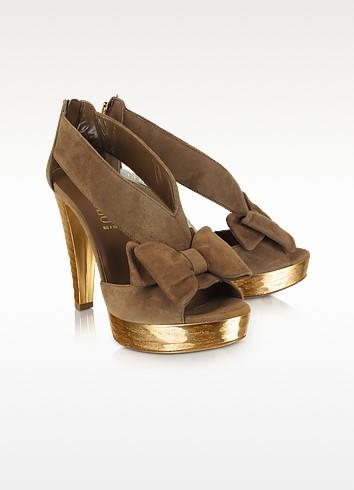 Suede Bow Sandal - Loriblu