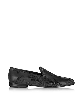 Loriblu Designer Shoes, Black Satin Slipper lr860415-001-00