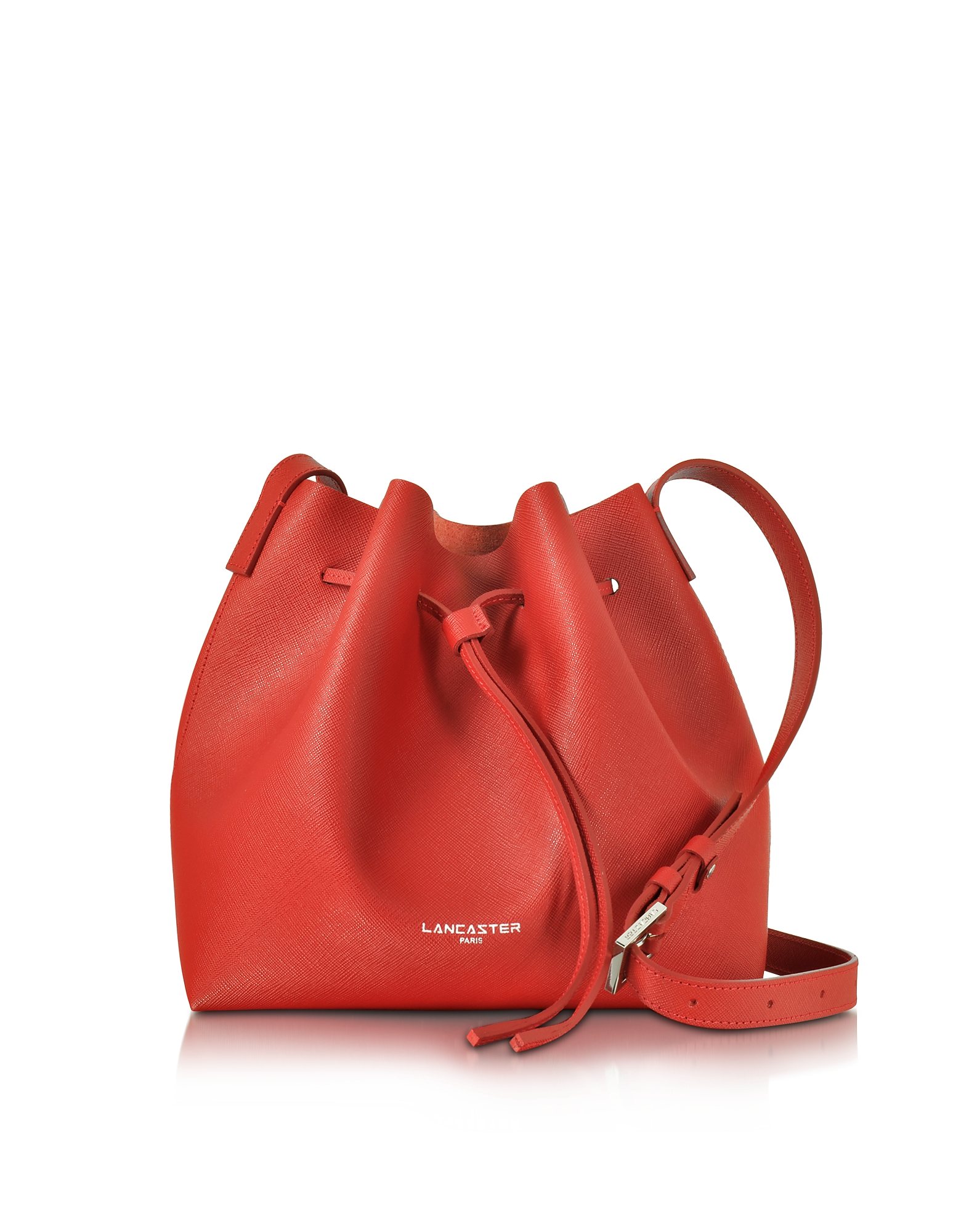 Lancaster Paris Handbags, Pur & Element Saffiano Leather Bucket Bag
