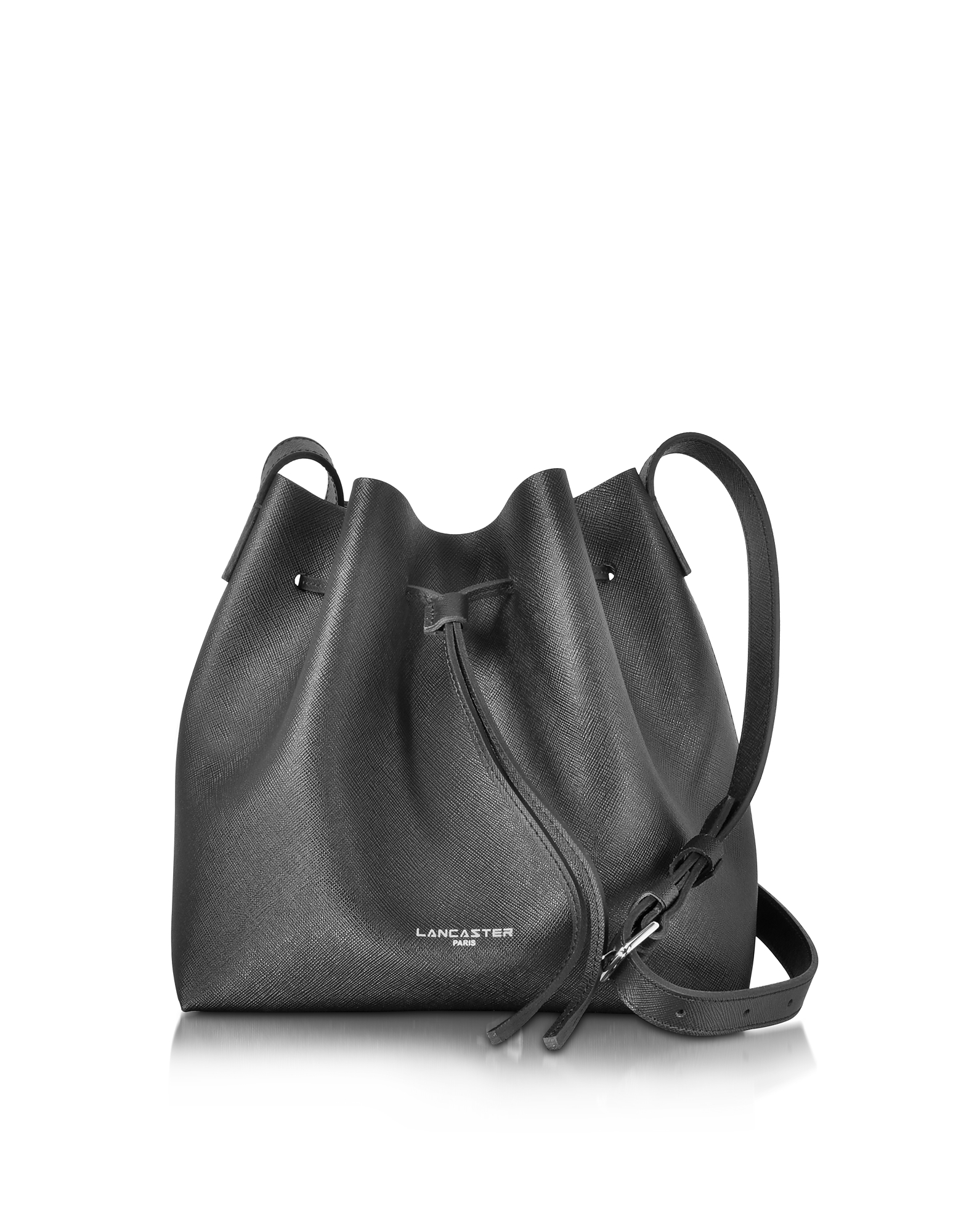 Pur & Element Saffiano Calf-Leather Bucket Bag
