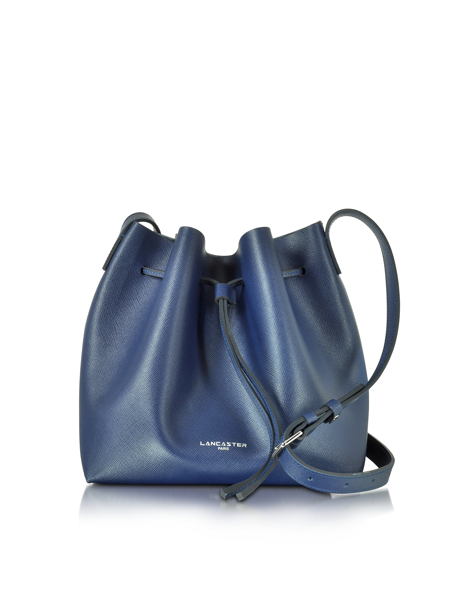 Lancaster Paris Designer Handbags, Pur & Element Saffiano Calf-Leather Bucket Bag (Luggage & Bags) photo