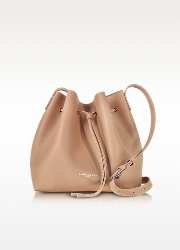 Pur & Element Saffiano Calf-Leather Bucket Bag - Lancaster Paris / ランカスター パリ