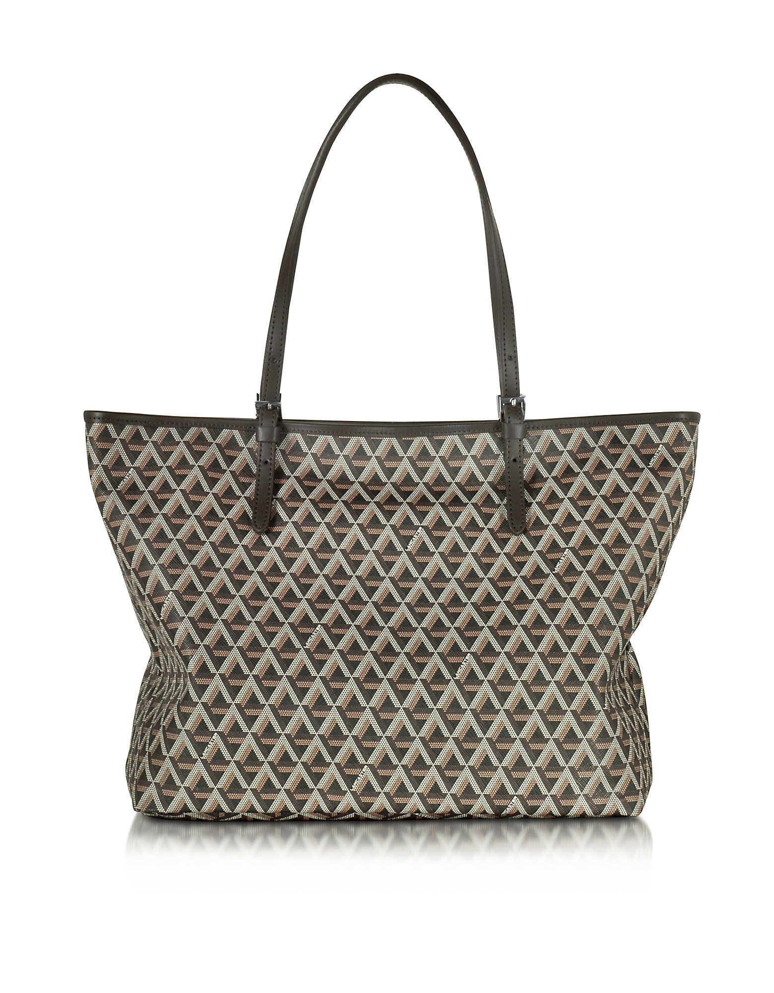 Lancaster Paris Handbags, Ikon Printed Coated Canvas and Leather Tote
