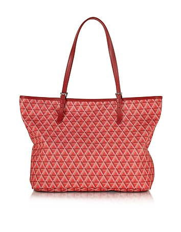 Ikon Printed Coated Canvas and Leather Tote