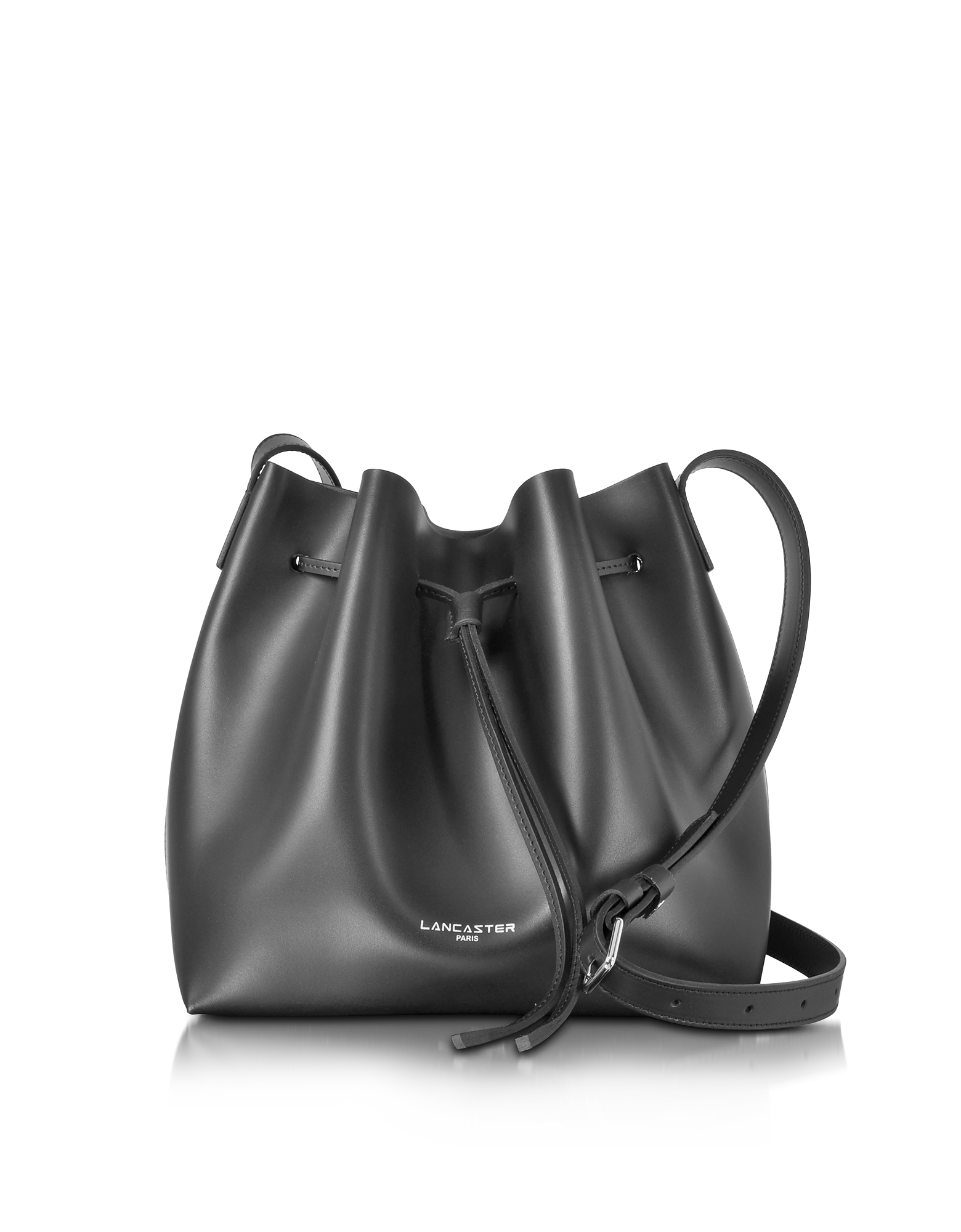 Lancaster Paris Designer Handbags, Pur Smooth Leather Bucket Bag (Luggage & Bags) photo