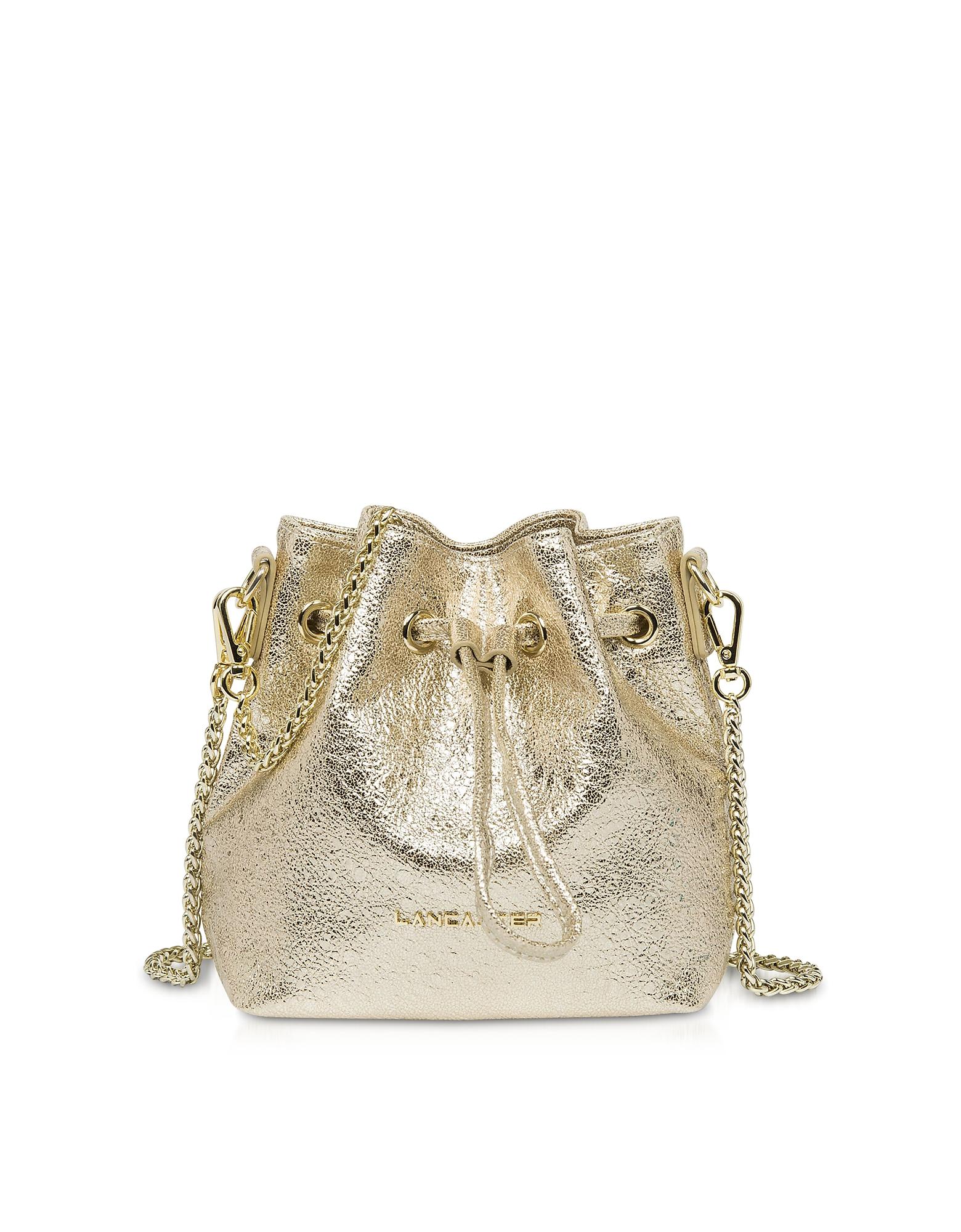 Lancaster Paris Handbags, Actual Shiny Mini Bucket Bag
