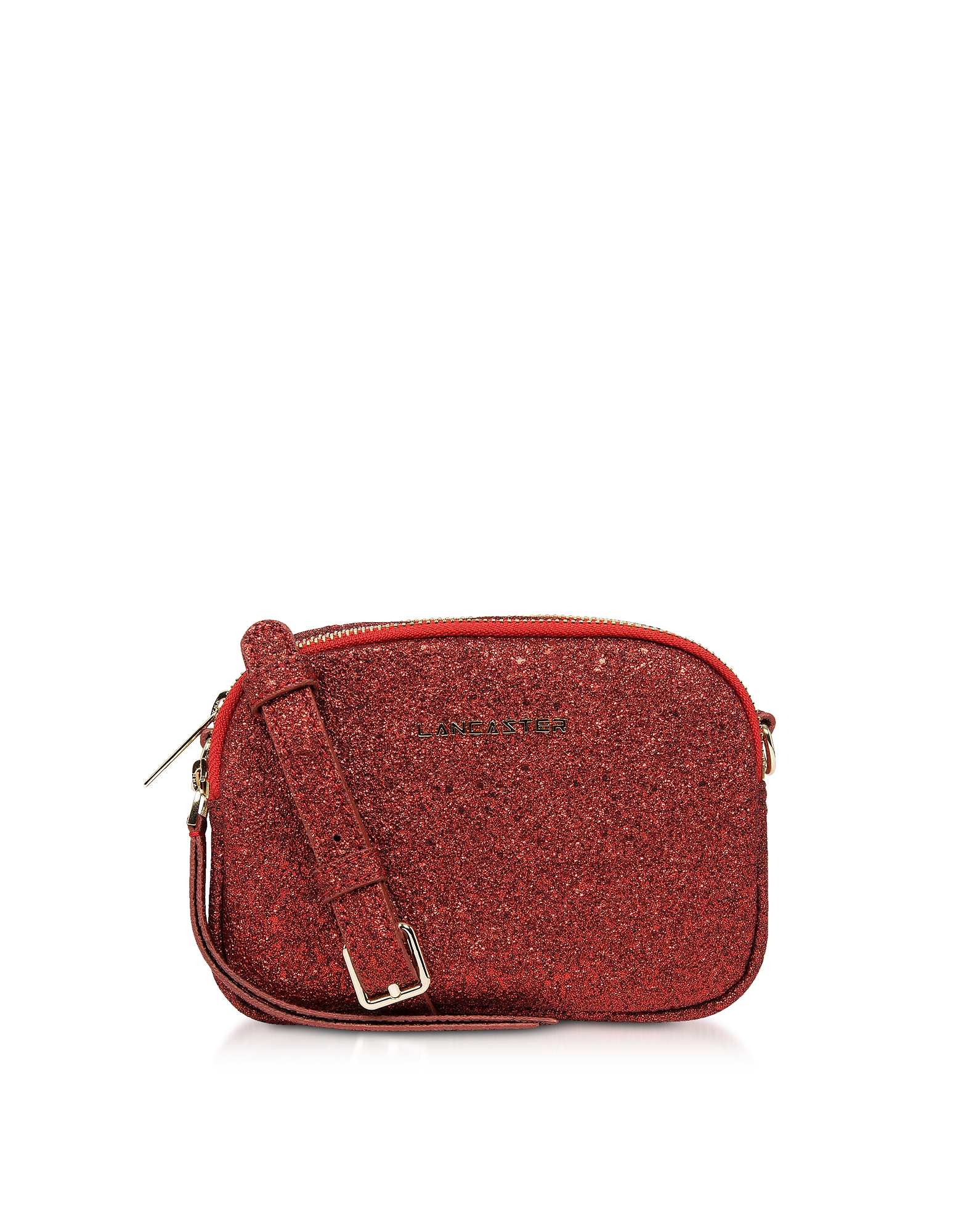 Lancaster Paris Designer Handbags, Actual Shiny Mini Crossbody Bag