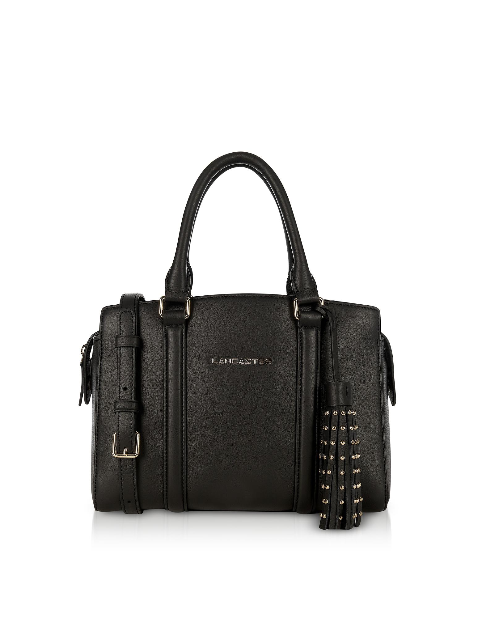 Ana Black Leather Small Tote Bag