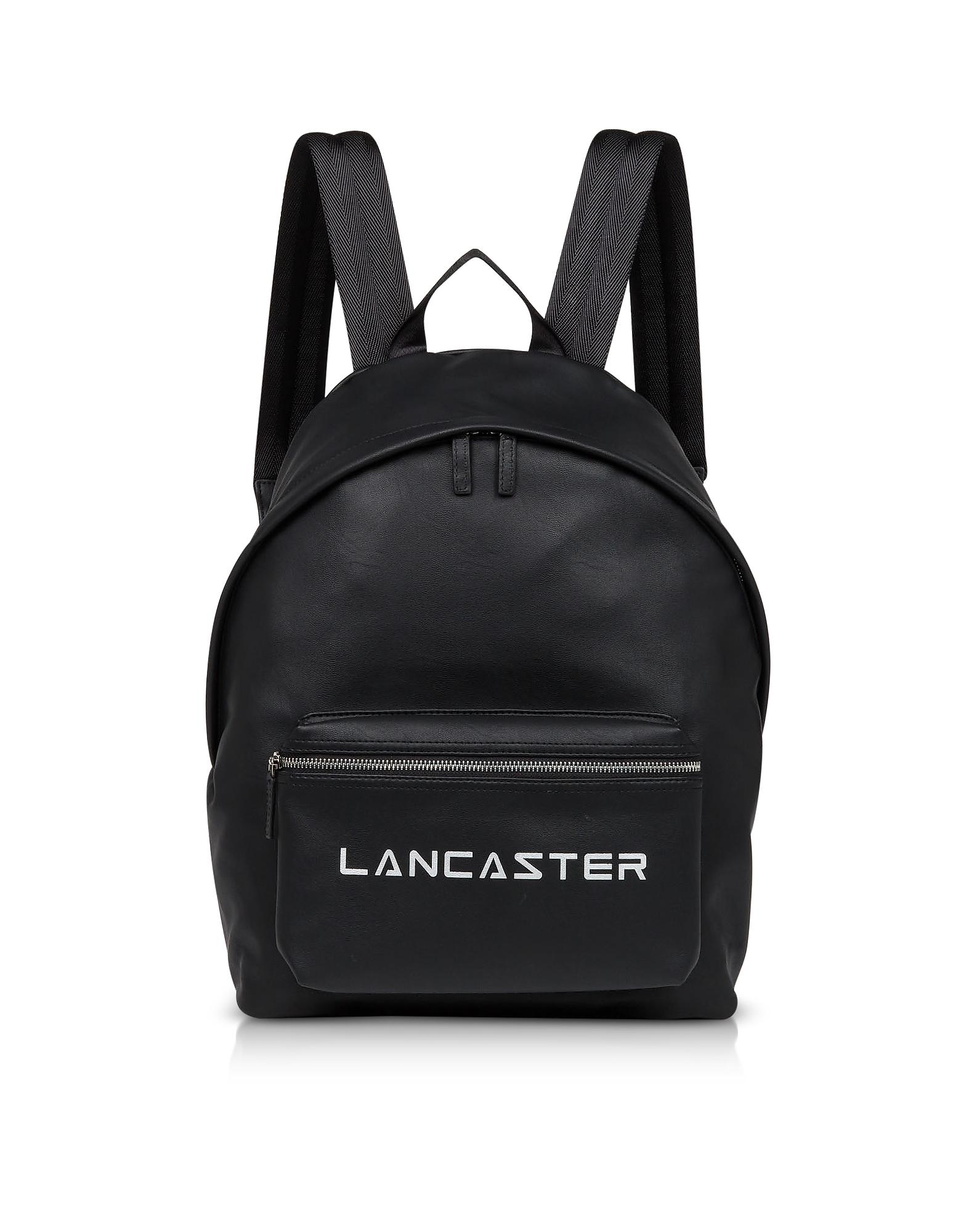Lancaster Paris Designer Handbags, Street Black Backpack