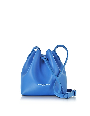 Lancaster Paris - Pur Smooth Blue Leather Mini Bucket Bag