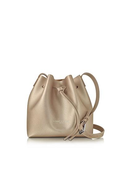 Pur & Element Champagne Saffiano Leather Mini Bucket Bag - Lancaster Paris