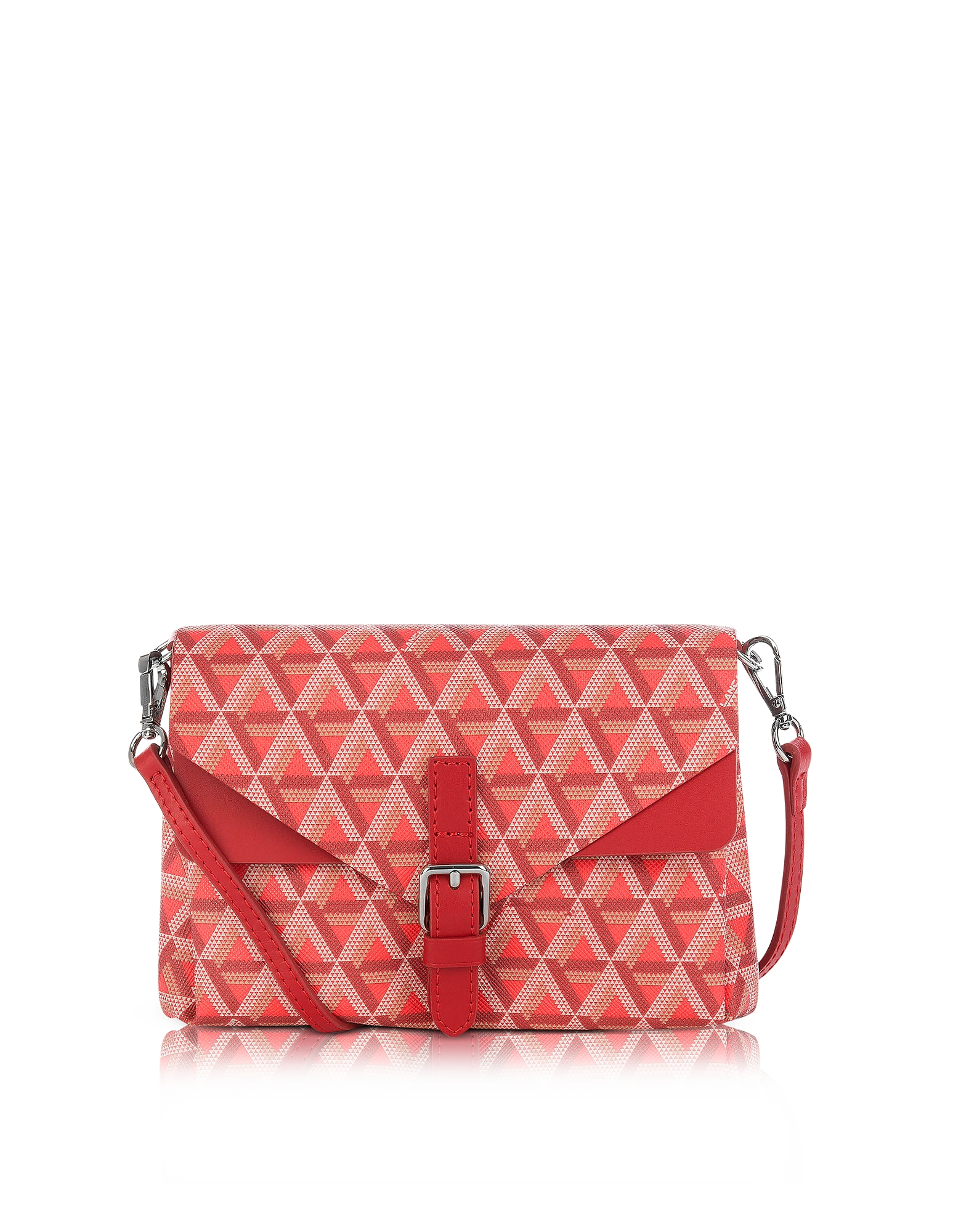 Lancaster Paris Handbags, Ikon Coated Canvas and Leather Mini Clutch