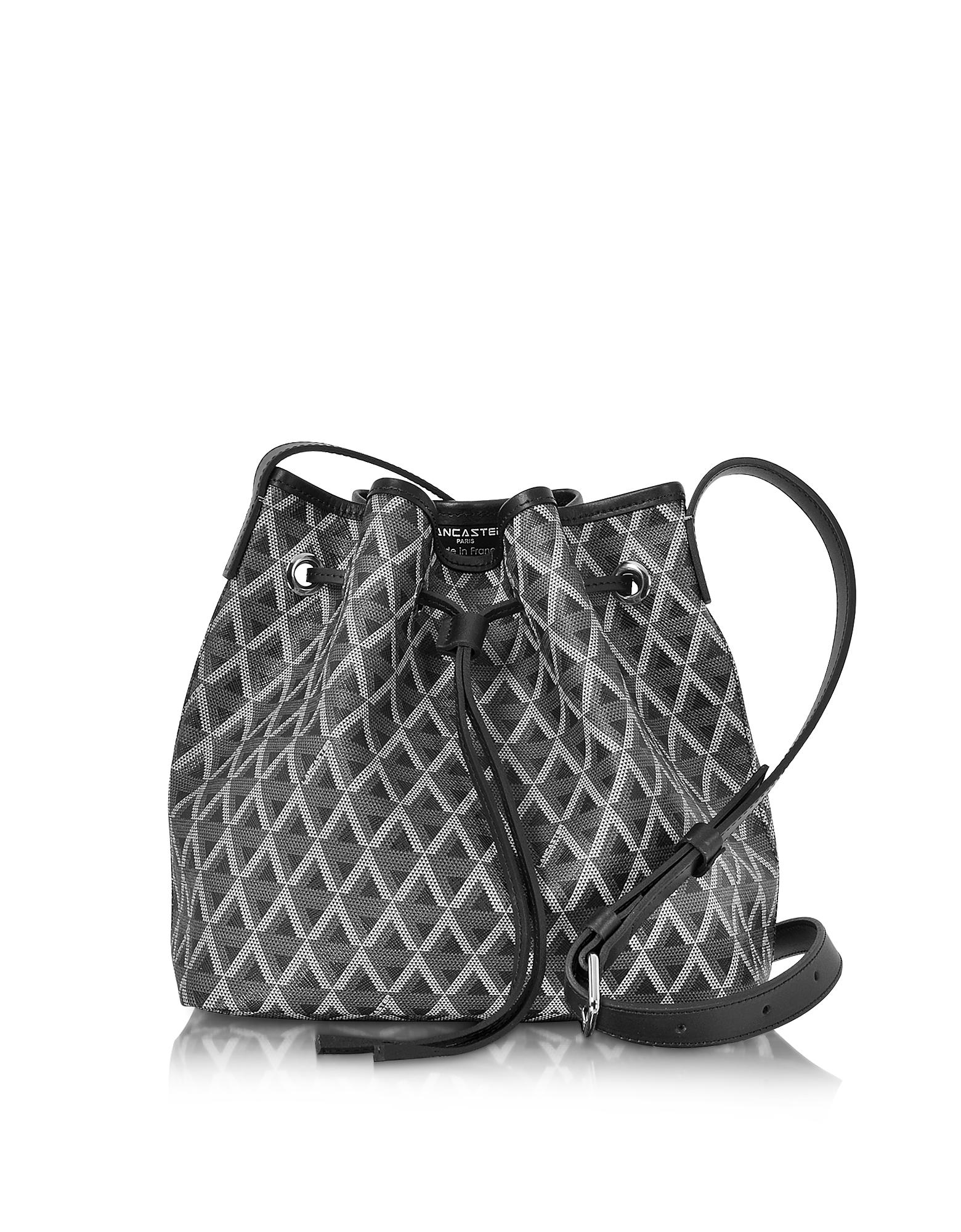 Lancaster Paris Handbags, Ikon Small Coated Canvas Bucket Bag