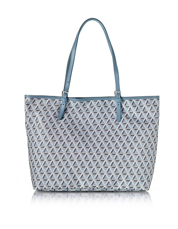 Lancaster Paris - Ikon Coated Canvas and Leather Large Tote Bag