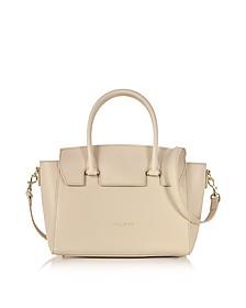 Camelia Leather Satchel Bag w/Detachable Shoulder Strap - Lancaster Paris