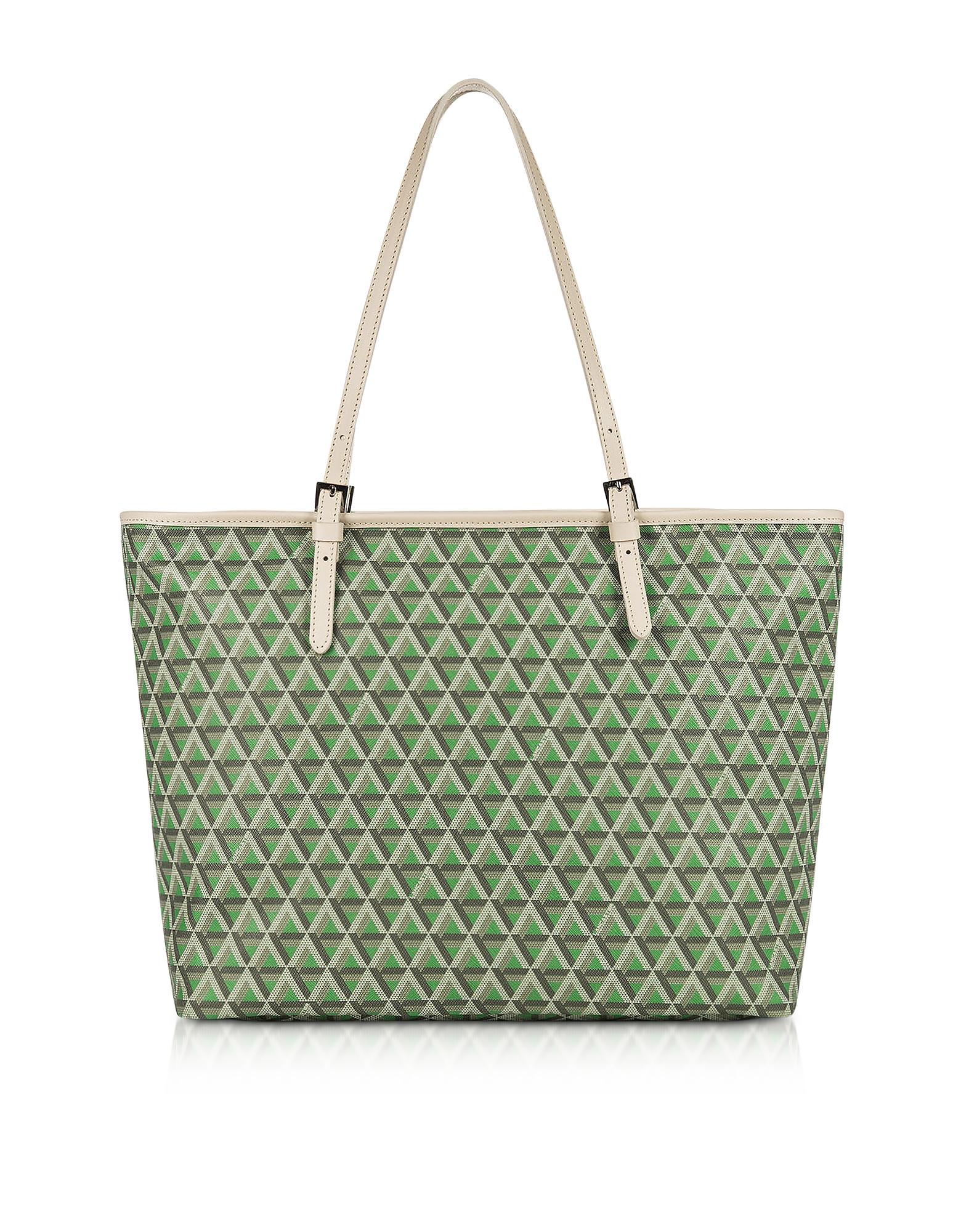 Lancaster Paris Handbags, Ikon Large Coated Canvas Tote Bag