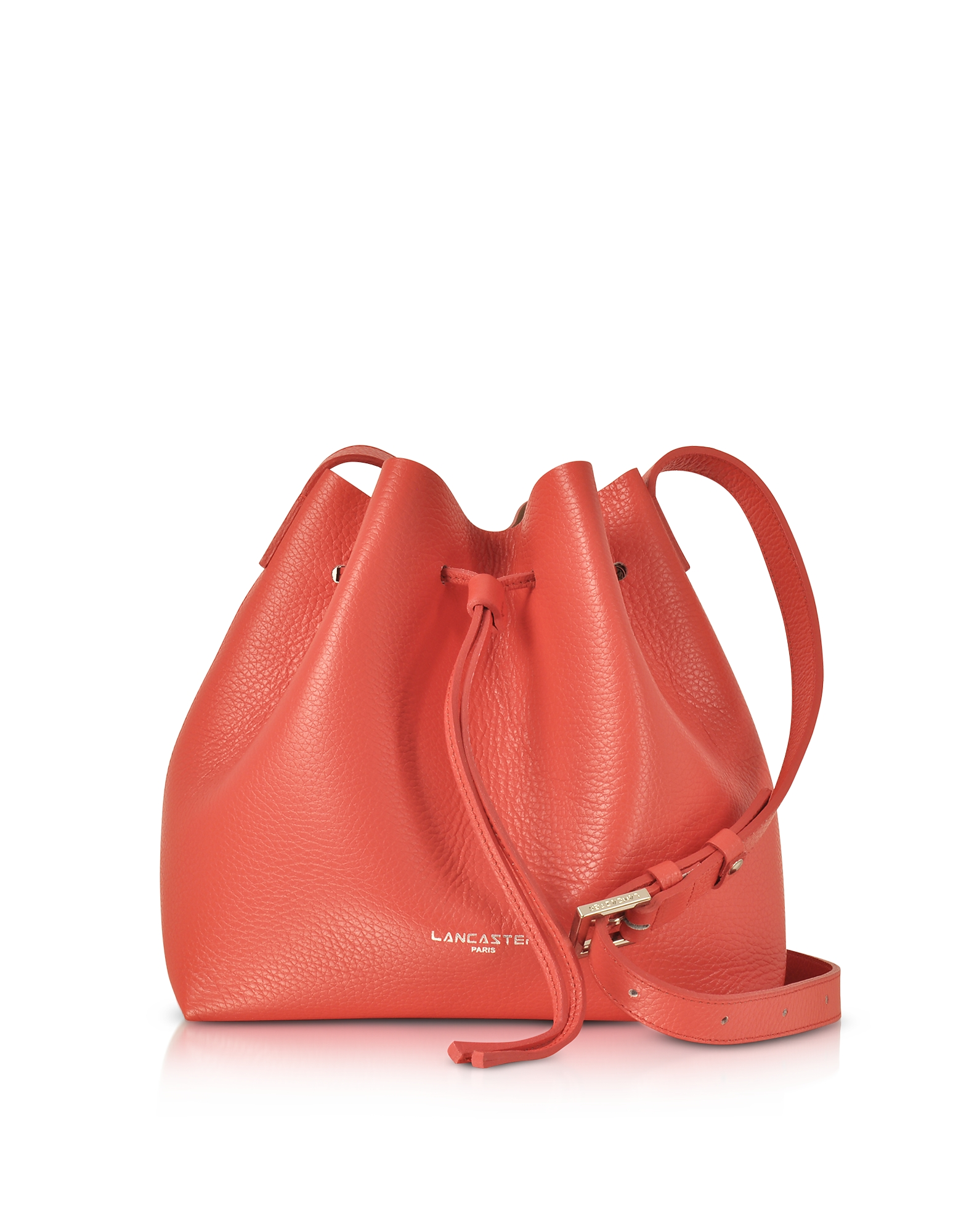 Lancaster Paris Handbags, Pur & Element Foulonné Leather Bucket Bag