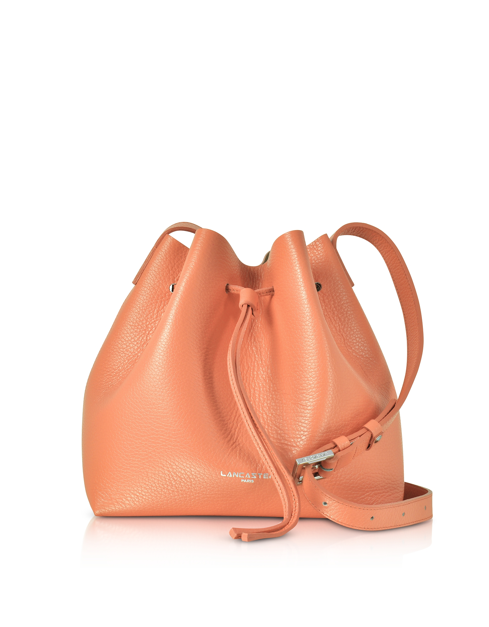 Lancaster Paris Handbags, Pur & Element Foulonné Leather Bucket Bag