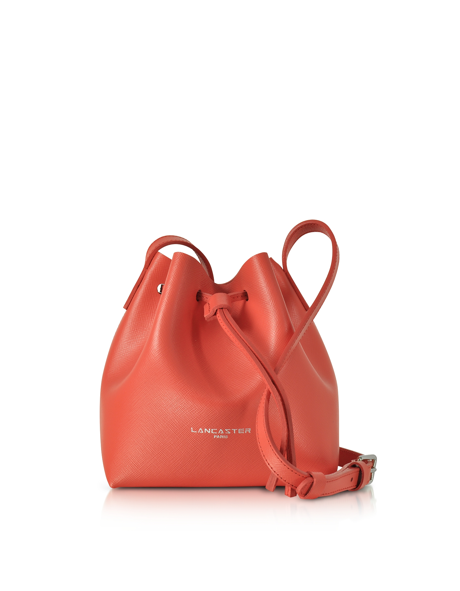 Lancaster Paris Handbags, Pur Saffiano Leather Mini Bucket Bag