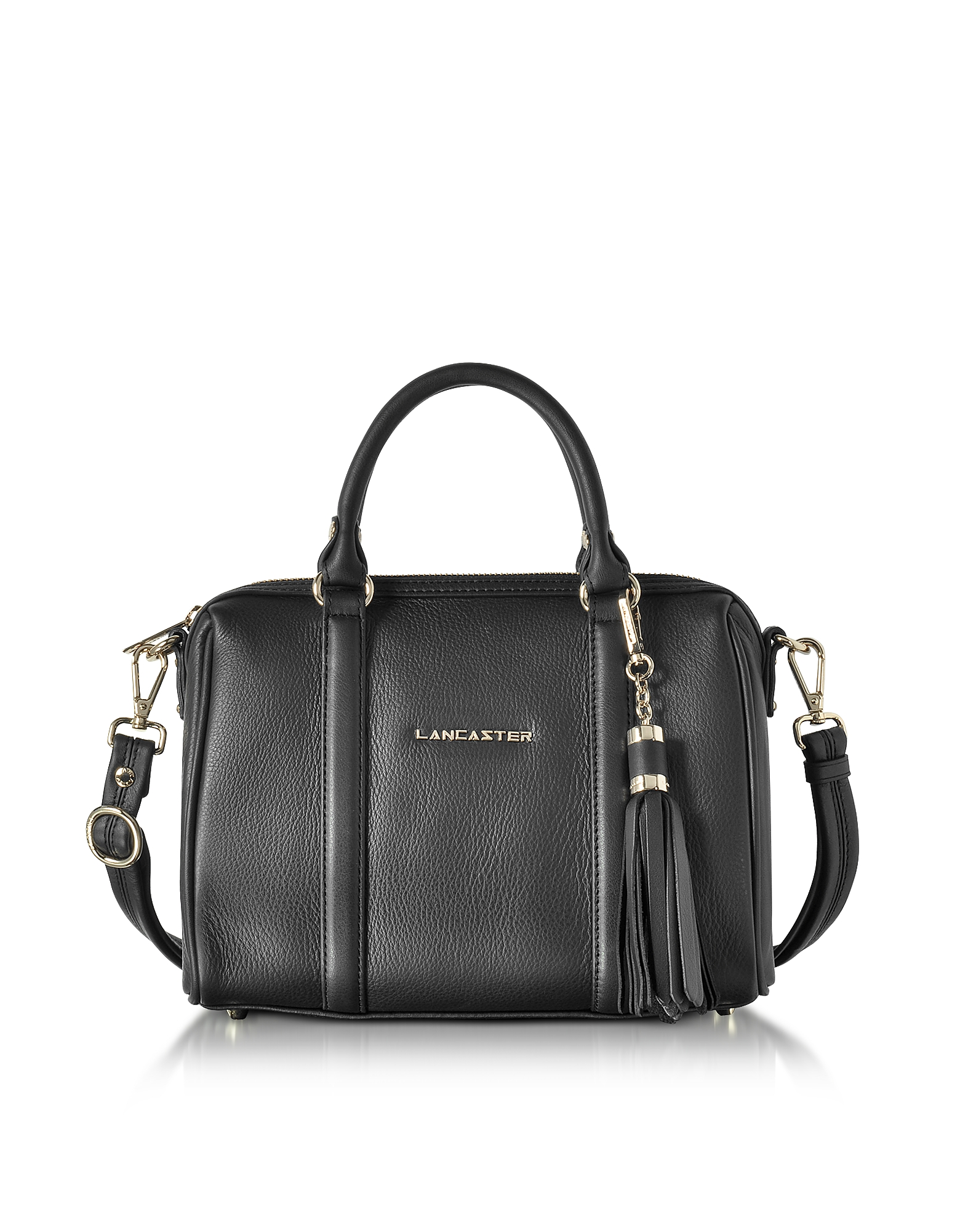 Lancaster Paris Handbags, Mademoiselle Ana Grained Leather Small Duffle Bag
