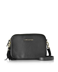 Mademoiselle Ana Black Grained Leather Crossbody Bag - Lancaster Paris
