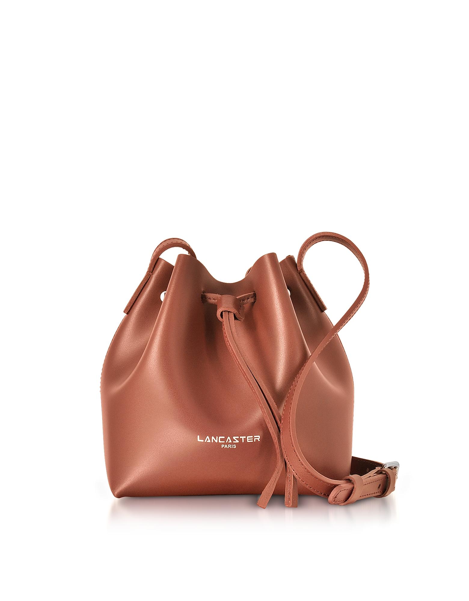 Lancaster Paris Handbags, Pur Smooth Leather Mini Bucket Bag