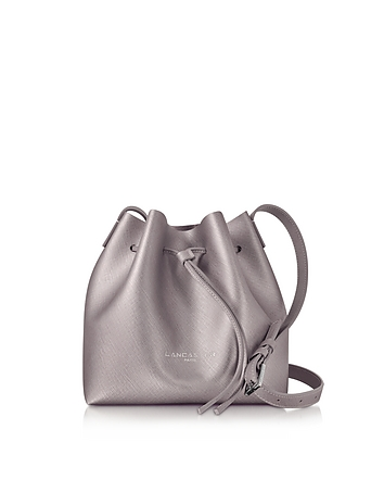 Lancaster Paris - Pur & Element Rose Gold Saffiano Leather Mini Bucket Bag