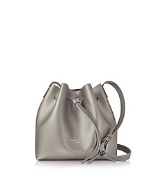 Pur & Element Bronze Saffiano Leather Mini Bucket Bag - Lancaster Paris