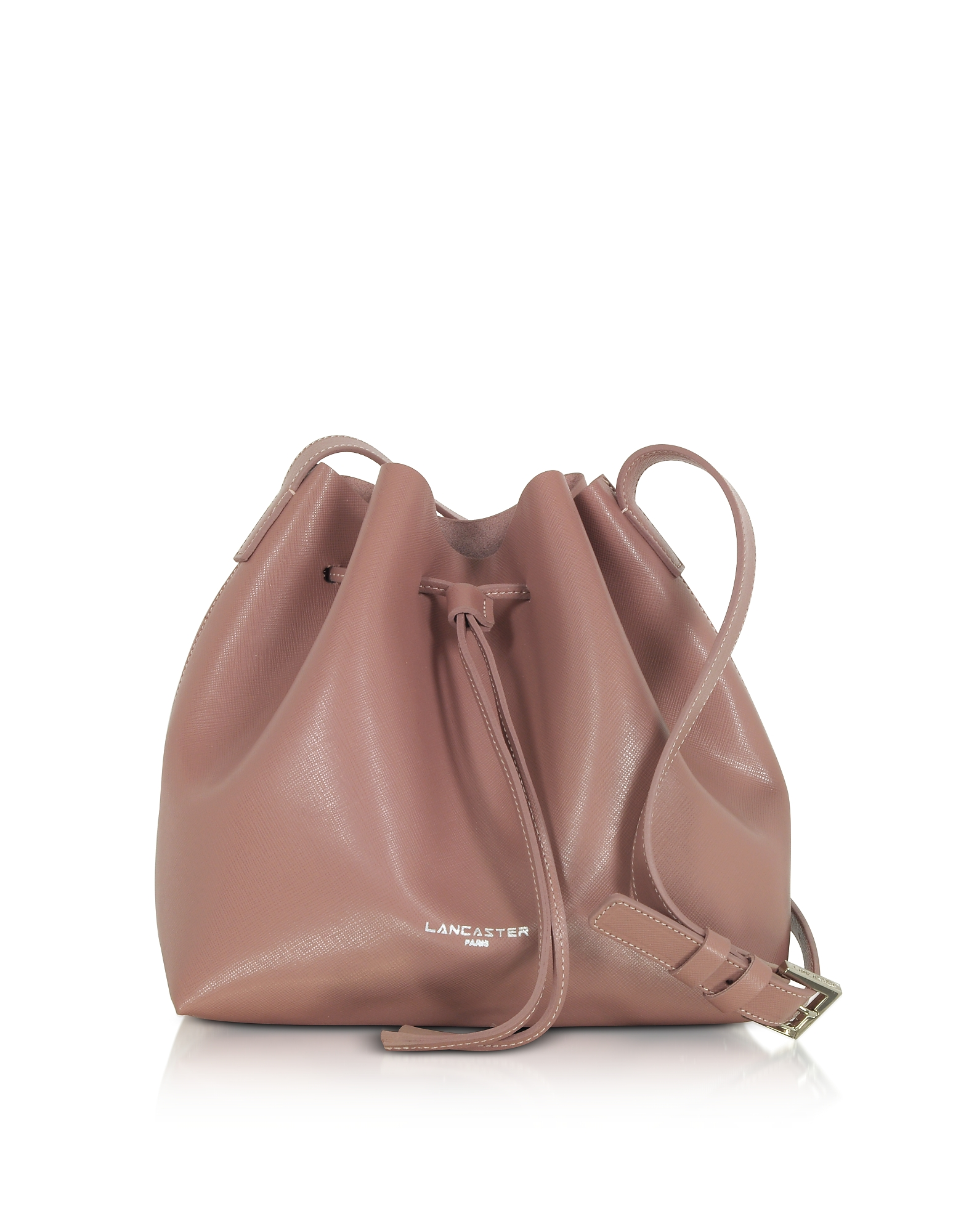 Lancaster Paris Handbags, Pur & Element Saffiano Leather Small Bucket Bag