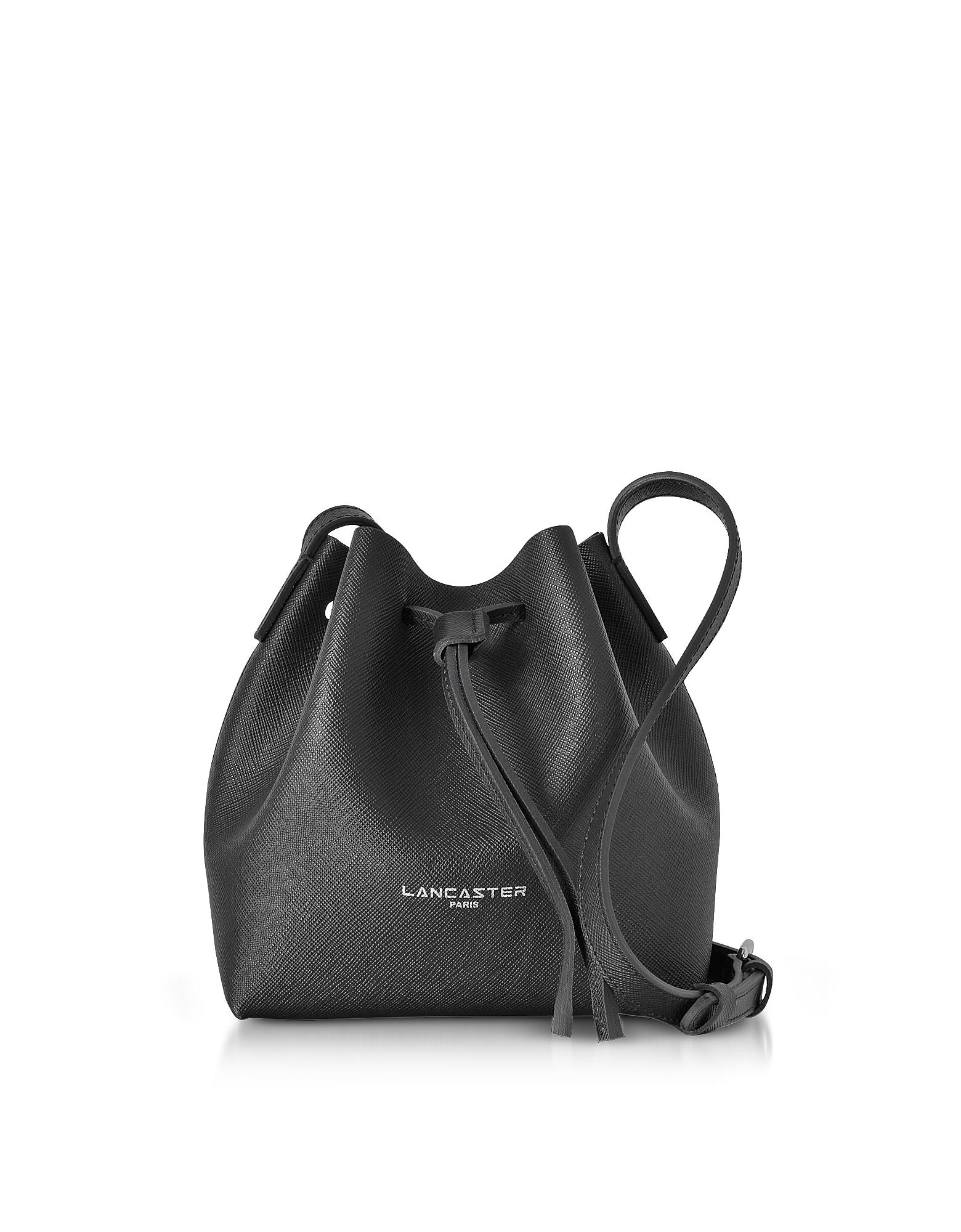 Lancaster Paris Handbags, Pur & Element Saffiano Leather Mini Bucket Bag