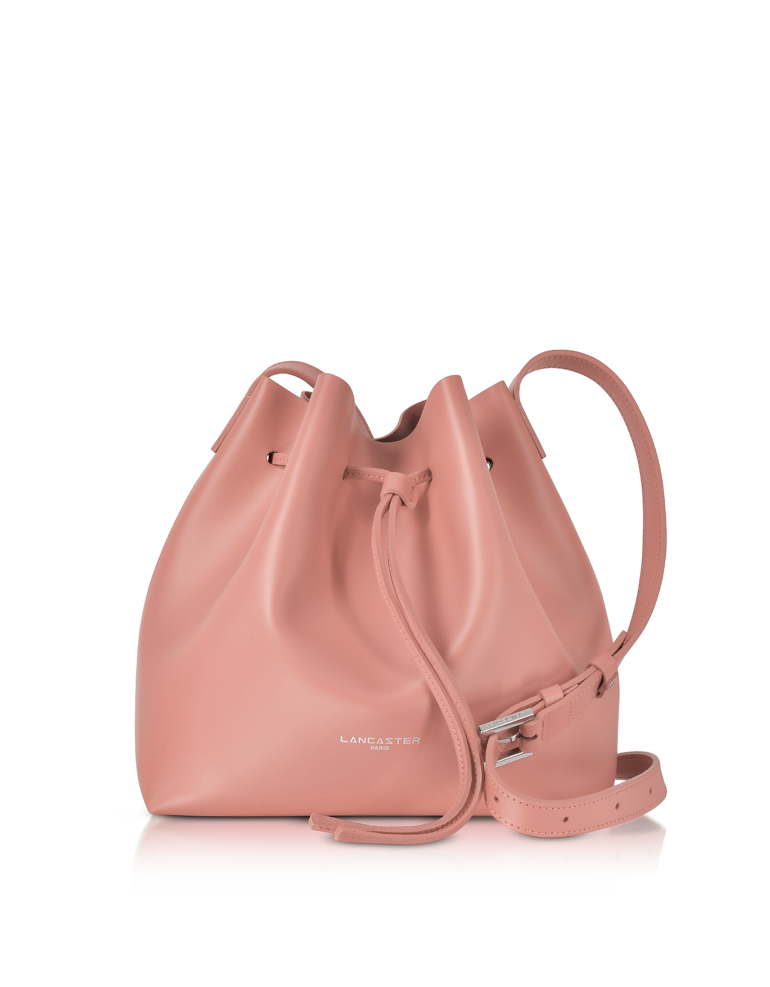 Lancaster Paris Handbags, Pur & Element Smooth Leather Small Bucket Bag