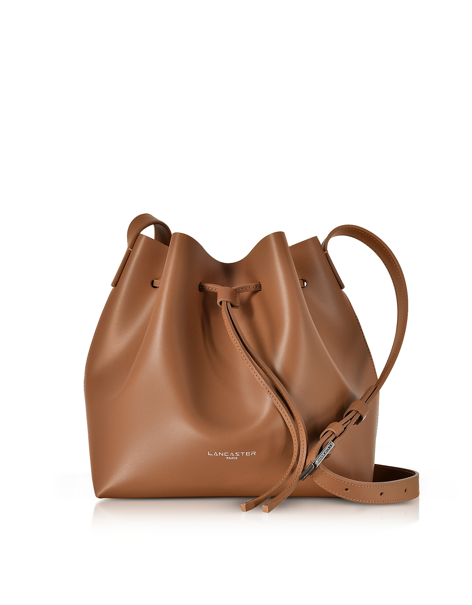 Lancaster Paris Handbags, Pur & Element Smooth Leather Small Bucket Bag