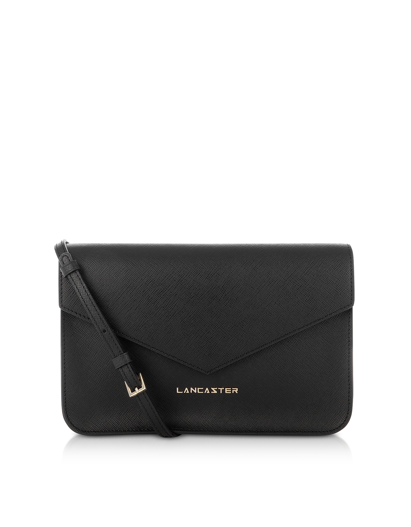 Clutch in Pelle Saffiano Nera