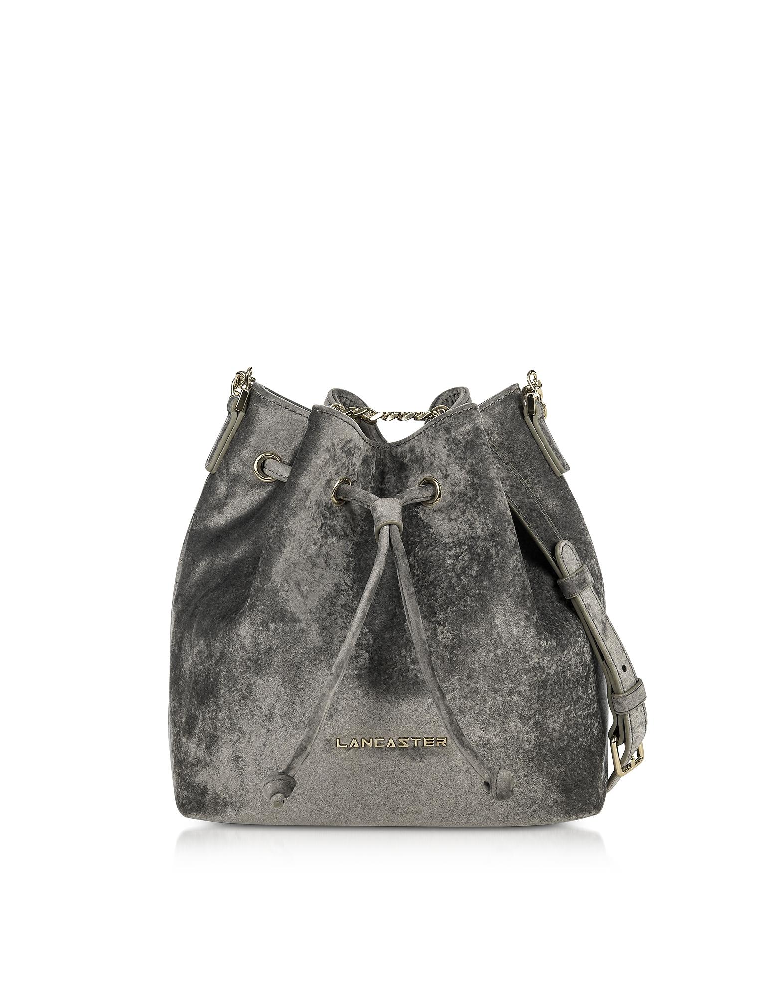 Lancaster Paris Handbags, Velvet Small Bucket Bag