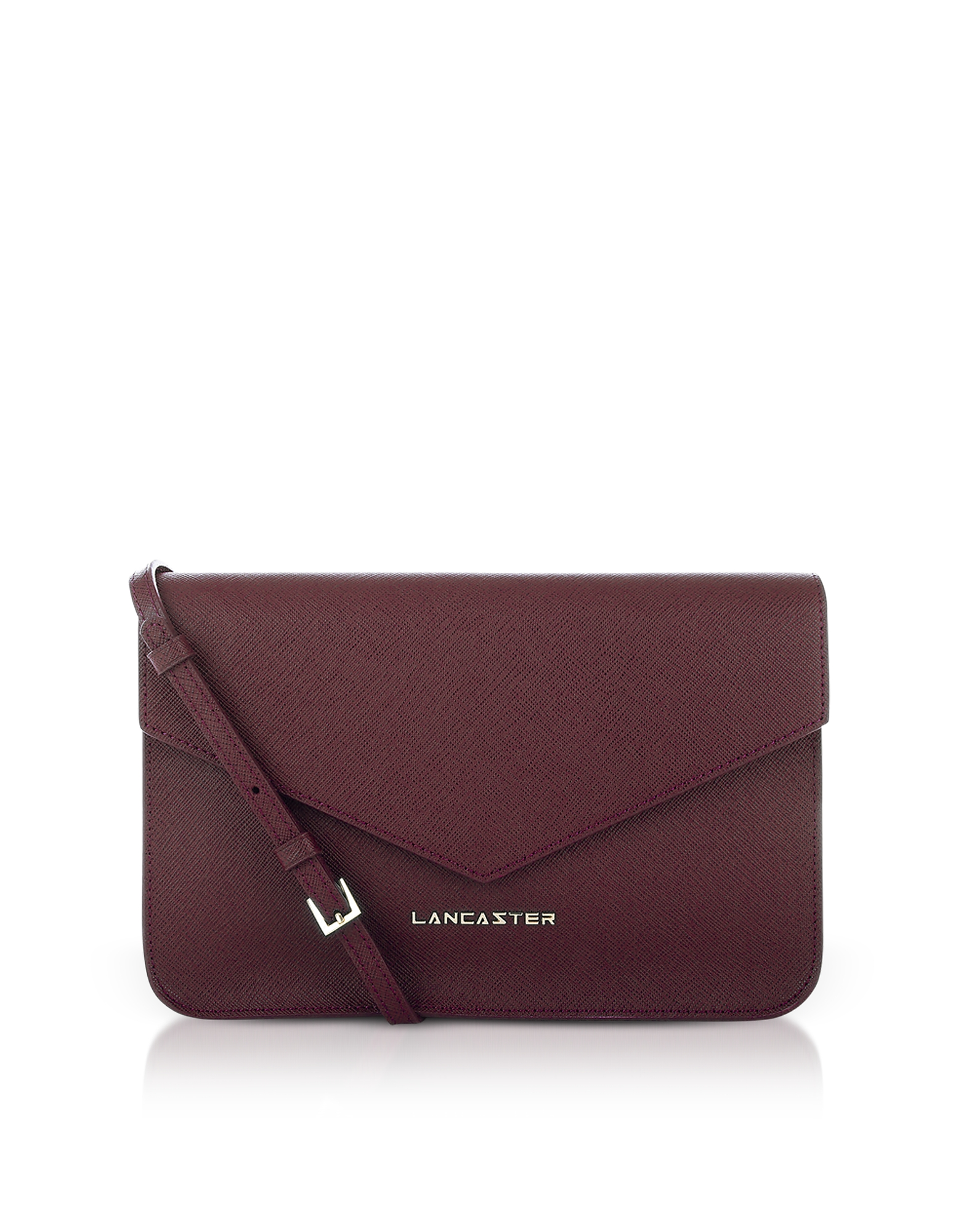 Clutch in Pelle Saffiano Bordeaux