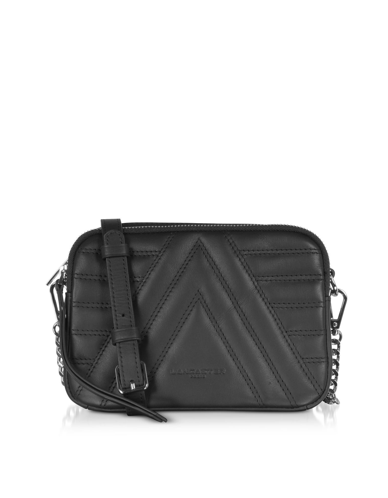 Lancaster Paris Designer Handbags, Parisienne Matelassé Quilted Leather Shoulder/Belt Bag