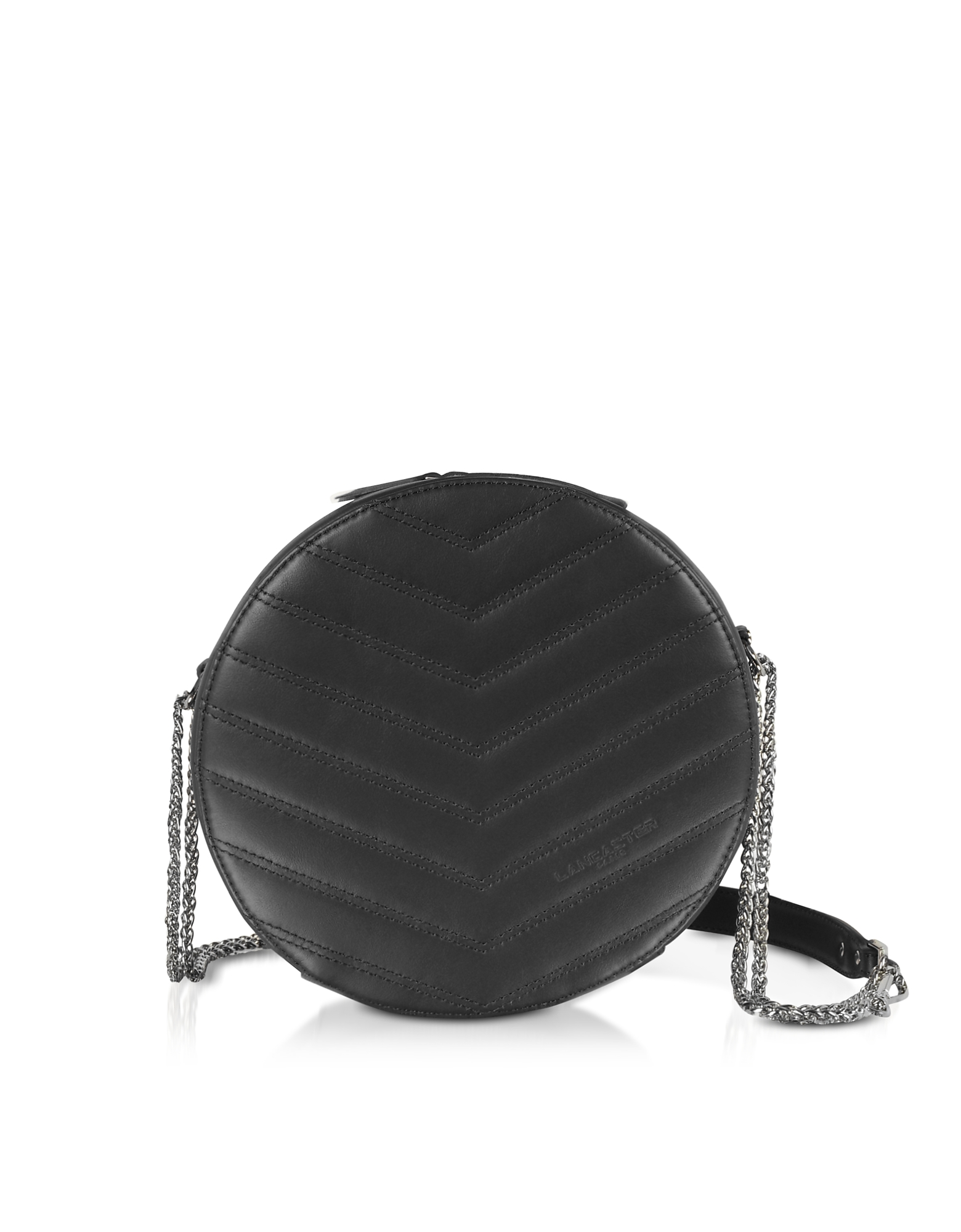 Lancaster Paris Designer Handbags, Parisienne Quilted Leather Round Crossbody Bag