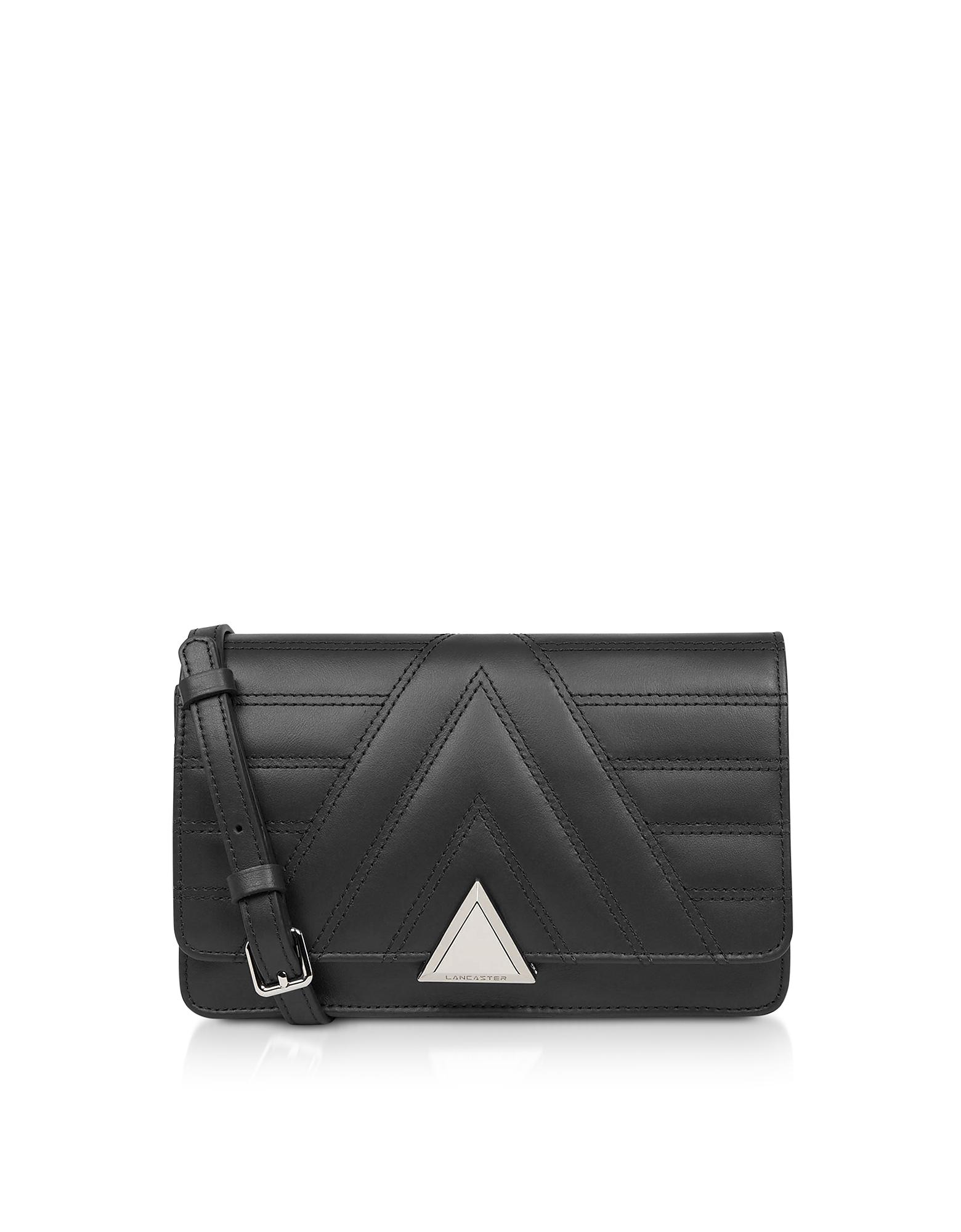 Lancaster Paris Designer Handbags, Parisienne Matelassé Quilted Leather Crossbody Bag