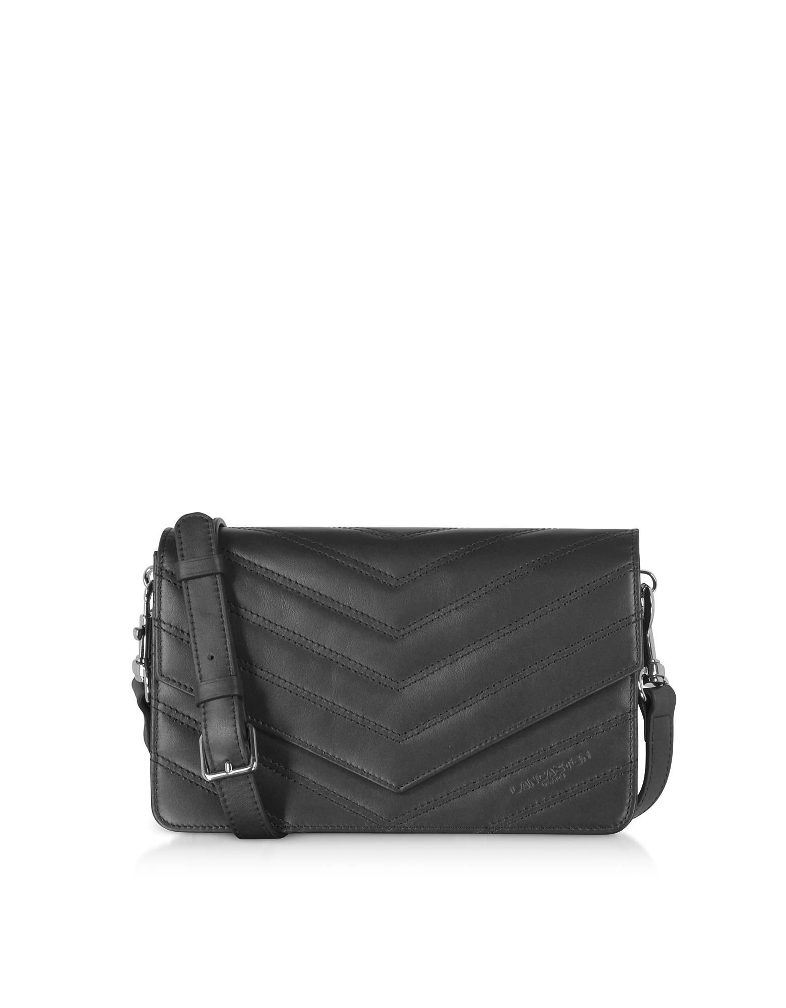 Lancaster Paris Designer Handbags, Parisienne Matelasse Leather Shoulder Bag
