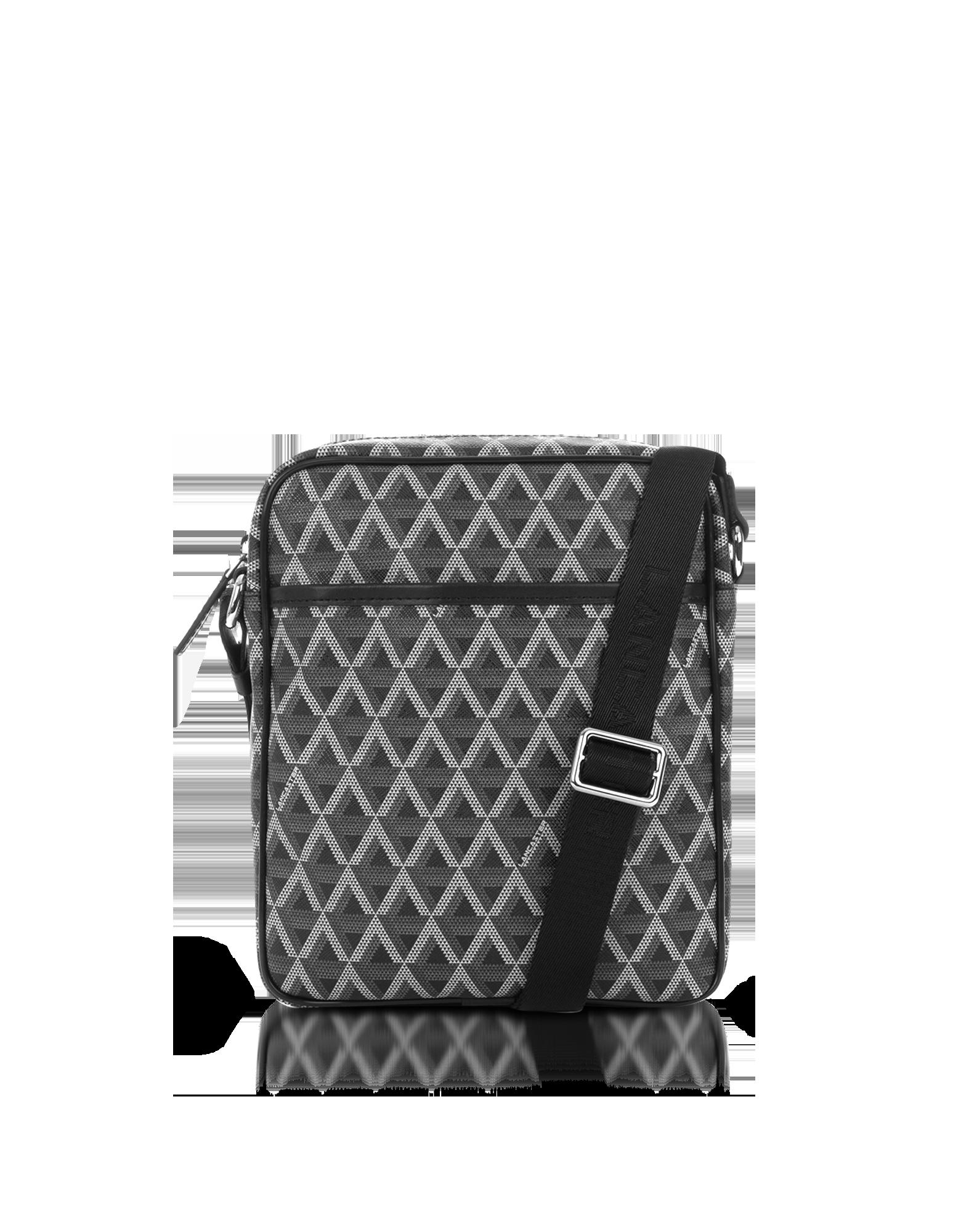 Image of Ikon Black Coated Canvas Men's Crossbody Bag