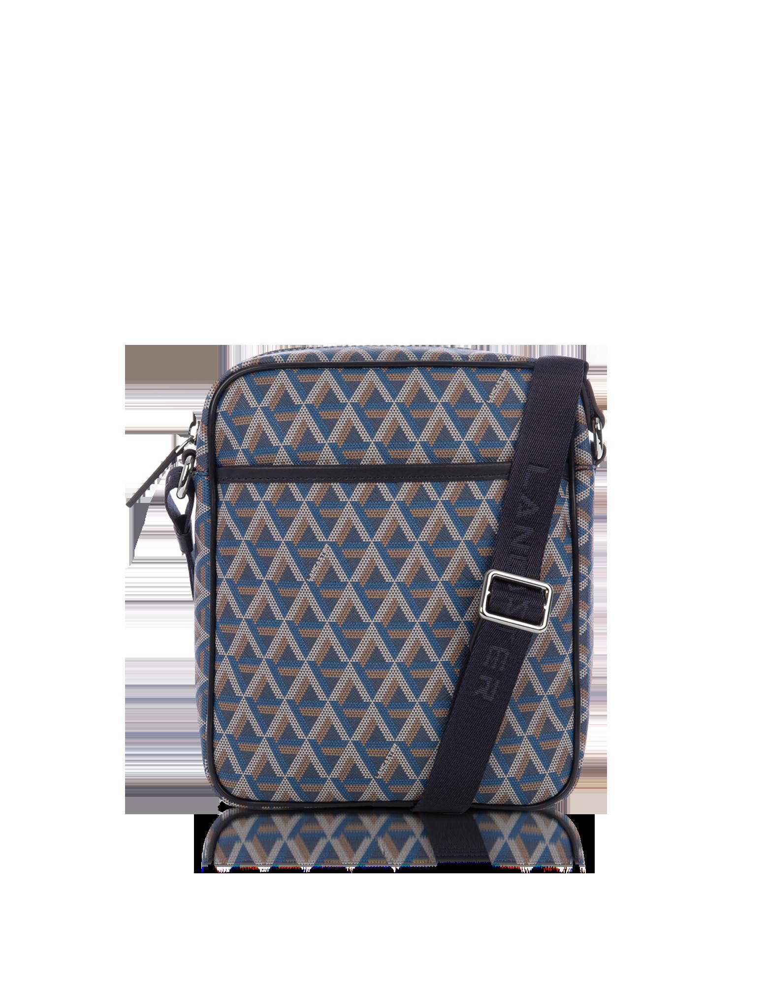 Image of Ikon Blue Coated Canvas Men's Crossbody Bag