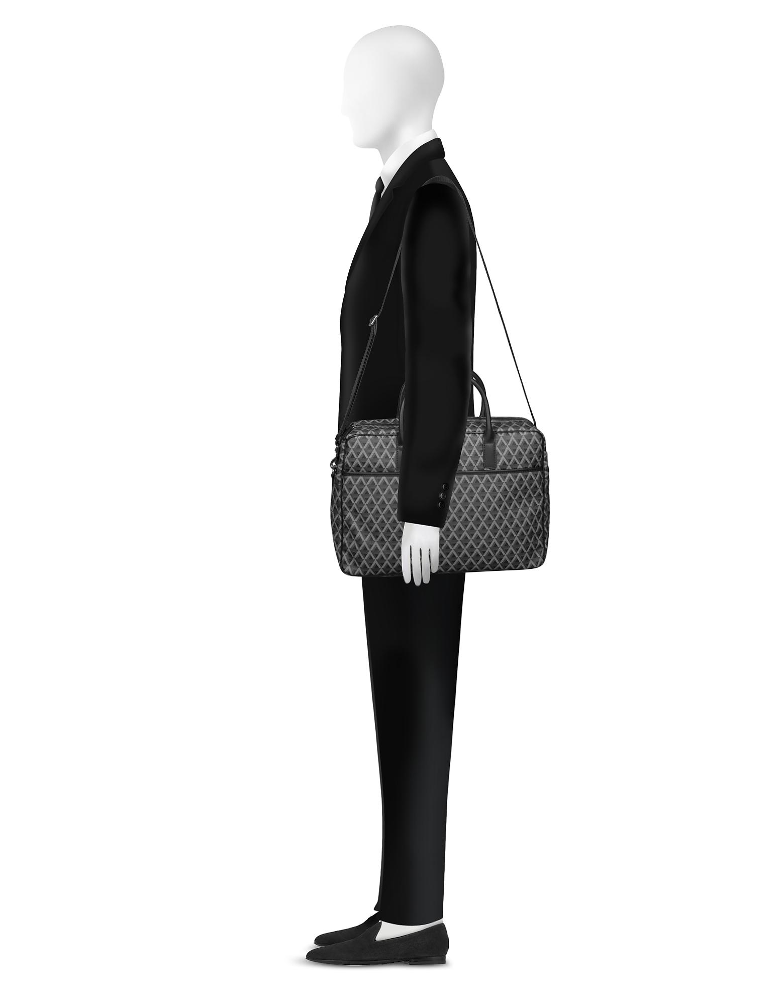 Фото Ikon - Черный Мужской Портфель из Ткани. Купить с доставкой