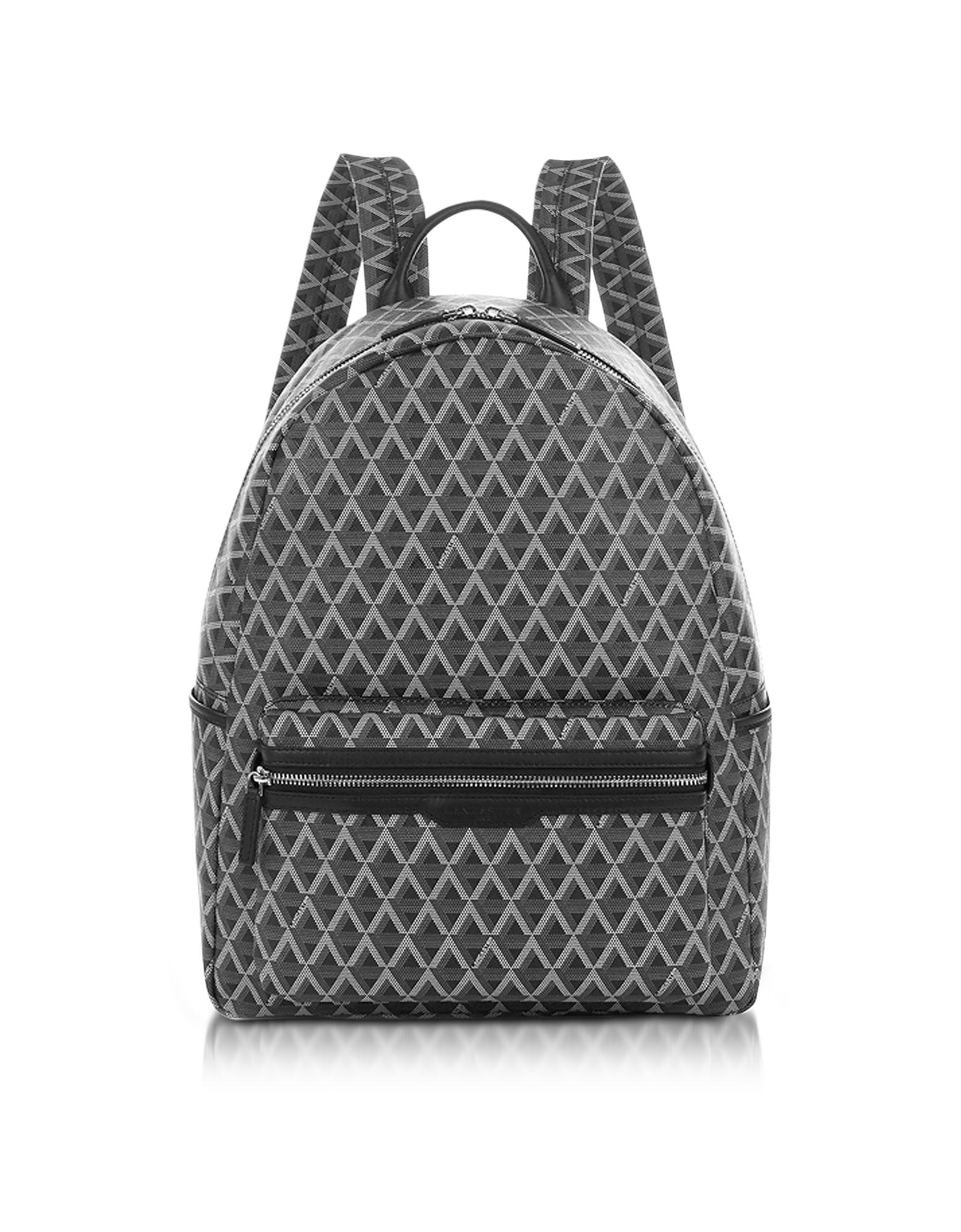 Lancaster Paris Backpacks, Ikon Black Coated Canvas Men's Backpack