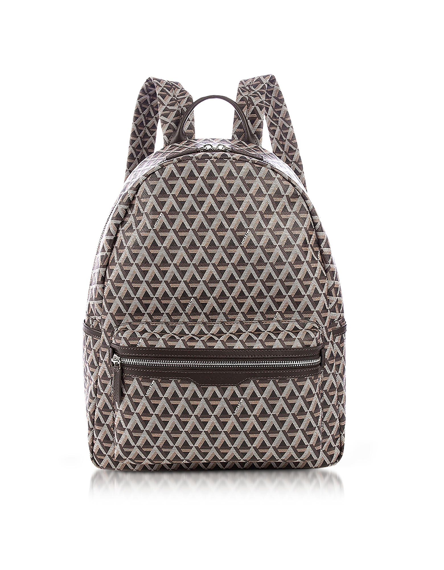 Lancaster Paris Backpacks, Ikon Brown Coated Canvas Men's Backpack