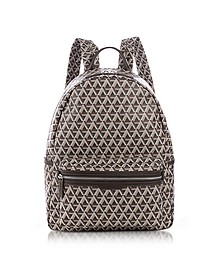 Ikon Brown Coated Canvas Men's Backpack - Lancaster Paris