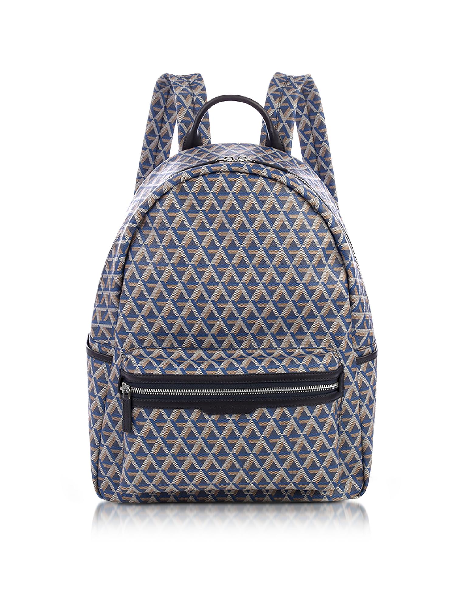 Ikon Blue Coated Canvas Men's Backpack