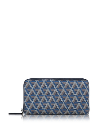 Lancaster Paris - Ikon Coated Canvas and Leather Zip Around Continental Wallet