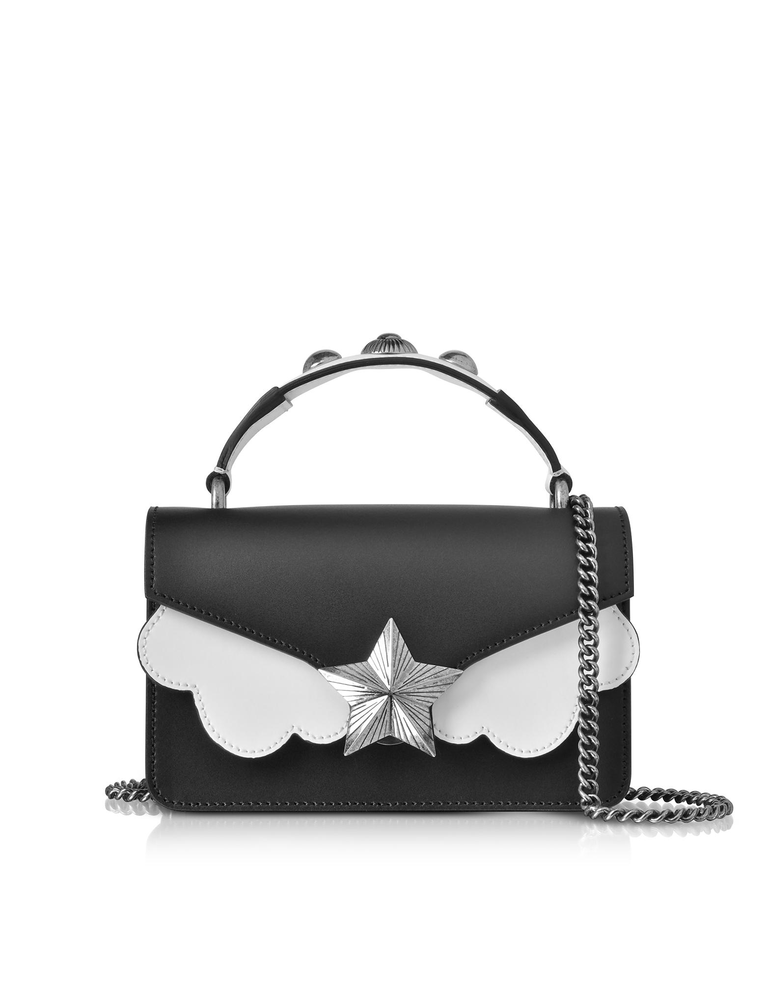Black&White Leather Vega Mini Shoulder Bag