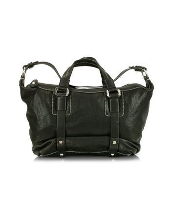 Foto der Handtasche Luana Daniela - Umhaengetasche aus verwaschenem Leder in schwarz