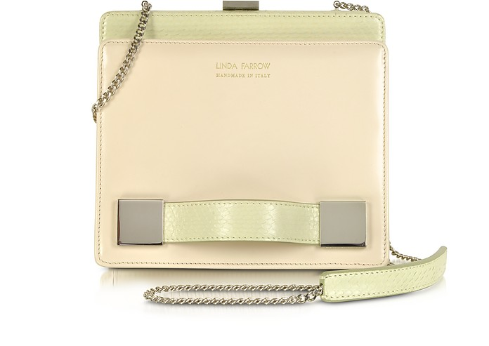 Anniversary Ayers and Leather Clutch - Linda Farrow